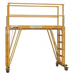 Telpro - 1101-96 - Rolling Work Platform, Steel, Dual Access Platform Style, 24 to 132 Platform Height