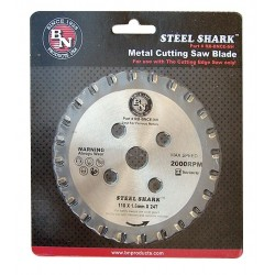 BN Products - RB-BNCE-NH - 4-3/8 Carbide Metal Cutting Circular Saw Blade, Number of Teeth: 24
