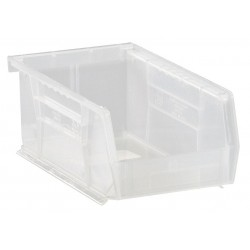 Quantum Storage Systems - QUS220CL - Hang and Stack Bin, Clear, 7-3/8 Outside Length, 4-1/8 Outside Width, 3 Outside Height