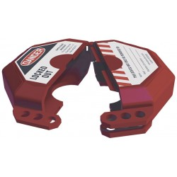 Accuform Signs - KDD472 - Accuform Signs Red Plastic StopOut Gate Valve Lockout With (3) Shackle Holes (Fits 5 - 6 1/2), ( Each )