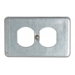 Appleton Electric - FSK-1DR-A - Appleton FSK-1DR-A Receptacle Cover, 1-Gang, Aluminum, Fits FS and FD Boxes