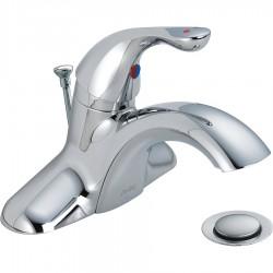 Delta Faucet - 520LF-HDF - Brass Bathroom Faucet, Lever Handle Type, No. of Handles: 1