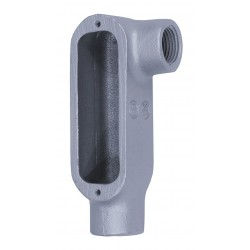Appleton Electric - LL350-M - LL-Style 3-1/2 Conduit Outlet Body, Threaded Iron, 300.0 cu. in.