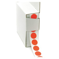 Roll Products - 119-0002U - 1/2 Color Code Circles Flo R 1000roll