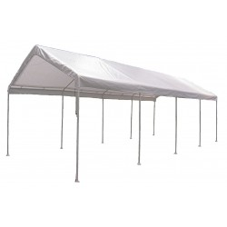 Other - 11C541 - White Universal Multi-Use Canopy, 26 ft. 7 Length, 10 ft. 8 Width, 9 ft. 9 Center Height