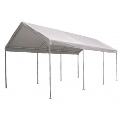 Other - 11C544 - White Universal Multi-Use Canopy, 26 ft. 7 Length, 18 ft. Width, 11 ft. 4 Center Height