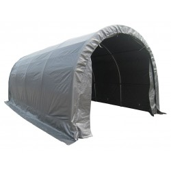 Other - 11C546 - Gray Dome Top Temporary Garage, 20 ft. Length, 10 ft. Width, 8 ft. Center Height