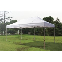 Other - 11C554 - White Instant Canopy, 19 ft. 2 Length, 9 ft. 8 Width, Adjusts to 10 ft. 10 Center Height