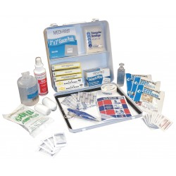 Medique - 17270 - First Aid Kit, Kit, Steel Case Material, General Purpose, 25 People Served Per Kit