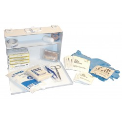 Medique - 56101 - First Aid Kit, Cabinet, Steel Case Material, General Purpose, 10 People Served Per Kit