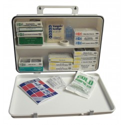 Medique - 83671 - First Aid Kit, Kit, Plastic Case Material, General Purpose, 25 People Served Per Kit