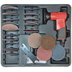 Chicago Pneumatic - CP7202D - Chicago Pneumatic CP7202D 3-Inch Adjustable Speed Mini Disc Rotary Sander Kit