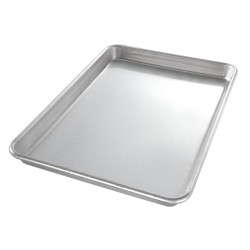 Chicago Metallic - 20700 - 9-15/16 W x 14-1/4 L Glazed Aluminized Steel Jelly Roll Pan, Medium