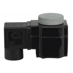 Plast-O-Matic Valves - 6966W-ASM-024/DC - Solenoid Valve Coil, Coil Insulation Class F, 24VDC Voltage, 17 Watts