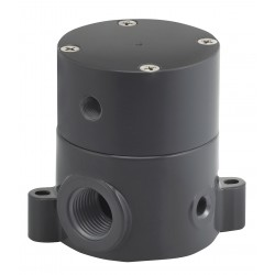 Plast-O-Matic Valves - BSDAM050T-NC-PP - 1/2 Air Operated Pneumatic Shut-Off Valve, Normally Closed