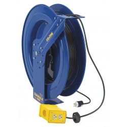 Coxreels / Coxwells - EZ-PC24-0012-B - 120VAC Heavy Industrial Retractable Cord Reel; Number of Outlets: 4, Cord Included: Yes