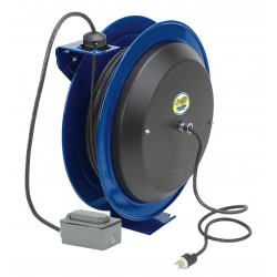 Coxreels / Coxwells - EZ-PC24-0012-F - 120VAC Heavy Industrial Retractable Cord Reel; Number of Outlets: 2, Cord Included: Yes