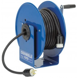 Coxreels / Coxwells - 112Y-4 - Heavy Industrial Hand Wind Cord Reel; Number of Outlets: 0, Cord Included: No