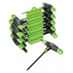 Greenlee / Textron - 0254-40 - Greenlee 0254-40 10-Piece Hex Key Set with Holder, T-Handle
