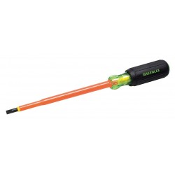 Greenlee / Textron - 0153-22-INS - Greenlee 0153-22-INS Screwdriver, Insulated, Cabinet Tip, 3/16 X 6