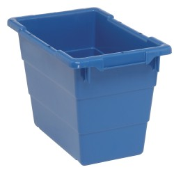 Quantum Storage Systems - TUB1711-12BL - Cross Stacking Tote, Blue, 12H x 17-1/4L x 11W, 1EA