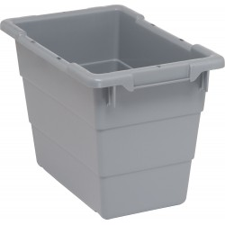 Quantum Storage Systems - TUB1711-12GY - Cross Stacking Tote, Gray, 12H x 17-1/4L x 11W, 1EA