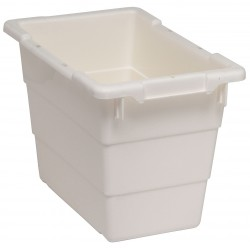 Quantum Storage Systems - TUB1711-12WT - Cross Stacking Tote, White, 12H x 17-1/4L x 11W, 1EA