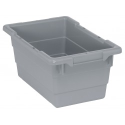 Quantum Storage Systems - TUB1711-8GY - Cross Stacking Tote, Gray, 8H x 17-1/4L x 11W, 1EA