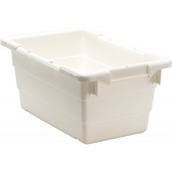 Quantum Storage Systems - TUB1711-8WT - Cross Stacking Tote, White, 8H x 17-1/4L x 11W, 1EA