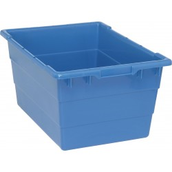 Quantum Storage Systems - TUB2417-12BL - Cross Stacking Tote, Blue, 12H x 23-3/4L x 17-1/4W, 1EA