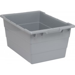 Quantum Storage Systems - TUB2417-12GY - Cross Stacking Tote, Gray, 12H x 23-3/4L x 17-1/4W, 1EA