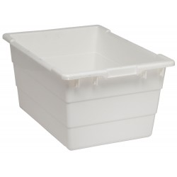 Quantum Storage Systems - TUB2417-12WT - Cross Stacking Tote, White, 12H x 23-3/4L x 17-1/4W, 1EA