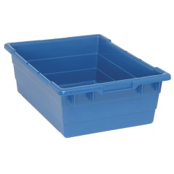 Quantum Storage Systems - TUB2417-8BL - Cross Stacking Tote, Blue, 8H x 23-3/4L x 17-1/4W, 1EA