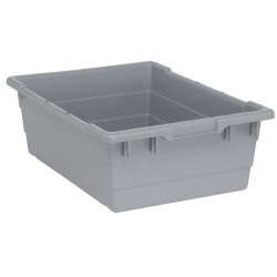 Quantum Storage Systems - TUB2417-8GY - Cross Stacking Tote, Gray, 8H x 23-3/4L x 17-1/4W, 1EA