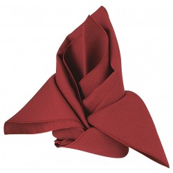 Phoenix Textile Industries - NO2020-BG - 20 x 20 Square Visa Napkin, Burgundy; PK12