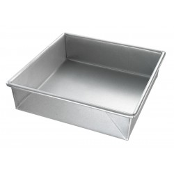 Chicago Metallic - 21300 - 8 W x 8 L x 2-1/4 D Glazed Aluminized Steel Square Cake Pan