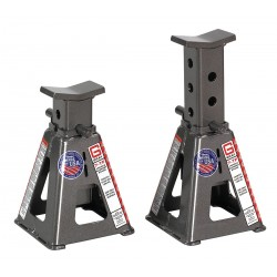 Gray - 7TF STANDS - 7-1/2 x 7-1/2 Pin Style Vehicle Stands; Lifting Capacity (Tons): 15