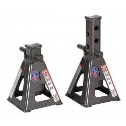 Gray - 25TF STANDS - 10 x 10 Pin Style Vehicle Stands; Lifting Capacity (Tons): 50