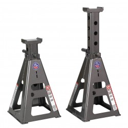 Gray - 25T-HF STANDS - 13 x 13 Pin Style Vehicle Stands; Lifting Capacity (Tons): 50