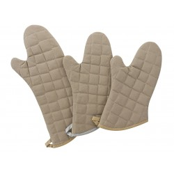 Phoenix Textile Industries - TFG-17 - 17 Cotton Oven Mitt, Flame Retardant , Tan