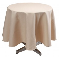 Phoenix Textile Industries - TO72R-BE - Round Visa Tablecloth, Beige; PK1