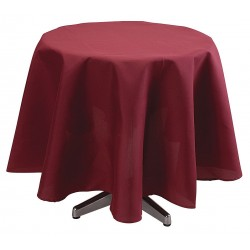 Phoenix Textile Industries - TO72R-BG - Round Visa Tablecloth, Burgundy; PK1