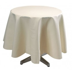 Phoenix Textile Industries - TO72R-IV - Round Visa Tablecloth, Ivory; PK1