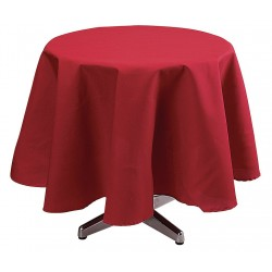 Phoenix Textile Industries - TO72R-RD - Round Visa Tablecloth, Red; PK1