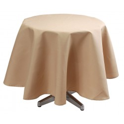 Phoenix Textile Industries - TO72R-SW - Round Visa Tablecloth, Sandalwood; PK1