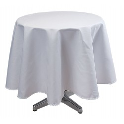 Phoenix Textile Industries - TO72R-WH - Round Visa Tablecloth, White; PK1