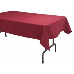 Phoenix Textile Industries - TO5270-BG - 70 x 52 Rectangle Visa Tablecloth, Burgundy; PK1