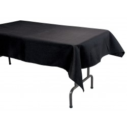 Phoenix Textile Industries - TO5270-BK - 70 x 52 Rectangle Visa Tablecloth, Black; PK1