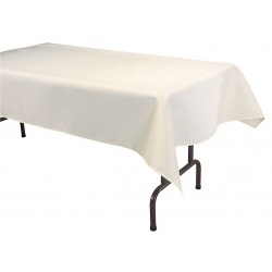 Phoenix Textile Industries - TO5270-IV - 70 x 52 Rectangle Visa Tablecloth, Ivory; PK1