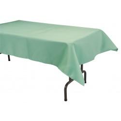 Phoenix Textile Industries - TO5270-SEAFOAMGR - 70 x 52 Rectangle Visa Tablecloth, Seafoam Green; PK1